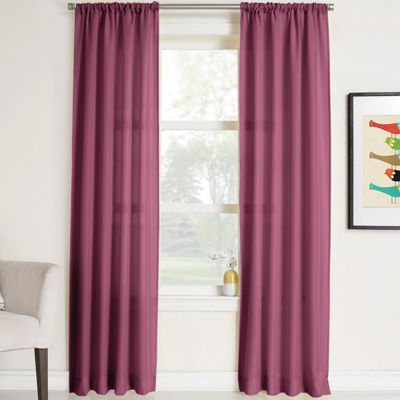 Remi Solid Rod Pocket Curtain Panel