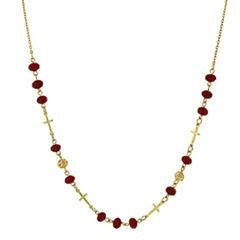 Symbols Of Faith Religious Jewelry Womens Strand Necklace