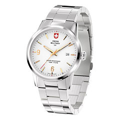 Swiss Military By Charmex Officer Mens Silver Tone Bracelet Watch-78346_4_G