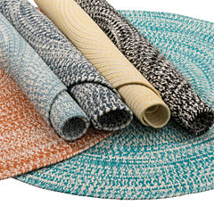Colonial Mills Biscayne Tweed Braided Round Reversible Rugs
