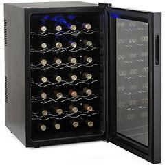 Wine Enthusiast® Silent 28-Bottle Wine Cooler