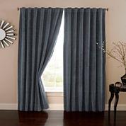 Eclipse Absolute Zero Velvet Rod-Pocket Back-Tab Curtain Panel