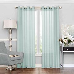 Eclipse Liberty Grommet-Top Sheer Curtain Panel