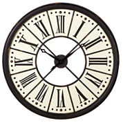 Black White Roman Numeral Wall Clock