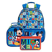 Disney Collection Mickey Backpack, Lunch Tote or Pencil Box