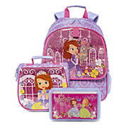 Disney Collection Sofia Backpack, Lunch Tote or Pencil Box