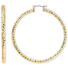 Monet® Gold-Tone Large Diamond-Cut Hoop Earrings