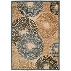 Nourison® Pinwheels High-Low Carved Rectangular Rug