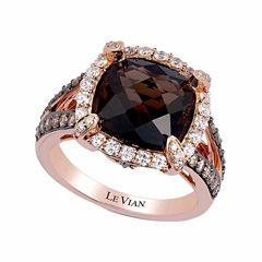 LIMITED QUANTITIES! Levian Corp Le Vian Womens 7/8 CT. T.W. Brown Quartz 14K Gold Cocktail Ring