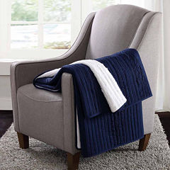 London Fog Crinkle Reversible Throw