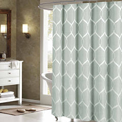 Duck River Quey Wrinkle Wave Fabr Shower Curtain