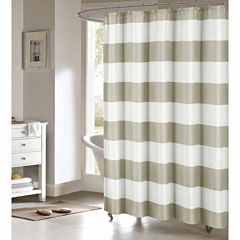 Duck River Toto Faux Linen Shower Curtain