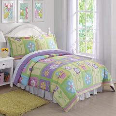 Laura Hart Kids Sweet Helena Twin Comforter Set Floral Lightweight Comforter Set