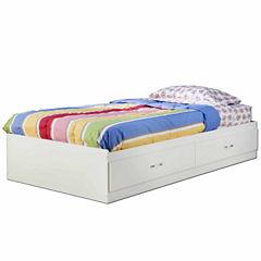 South Shore Logik 2-Drawer Twin Mates Bed