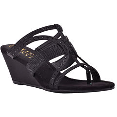 New York Transit Brightest Move Womens Wedge Sandals Wide