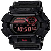 Casio® G- Shock Mens Black and Red Strap Watch GD400-1