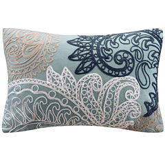 INK+IVY Kiran Oblong Embroidered Decorative Pillow