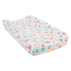 Trend Lab Coral Floral Plush Changing Pad Cover