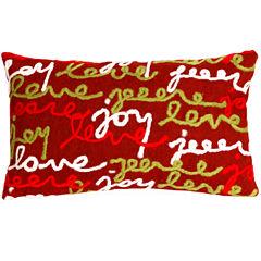 Liora Manne Visions Iii Peace Love Joy Rectangular Outdoor Pillow