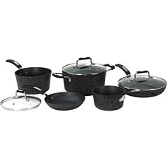 THE ROCK by Starfrit 8-Piece Cookware Set with Bakelite® Handles