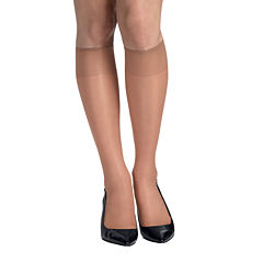 Hanes® Silk Reflections® 2-pk. Knee-High Reinforced Toe Hosiery