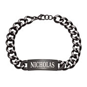 Personalized Mens Stainless Steel ID Bracelet