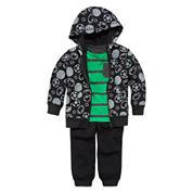 Okie Dokie® Striped Tee, Fleece Hoodie or Pants - Baby Boys newborn-24m