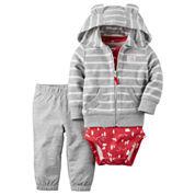Carter's® 3-pc. Stripe Cardigan and Pants Set - Baby Boys newborn-24m