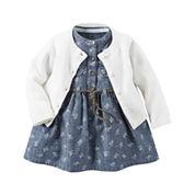 Carter's® 2-pc. Dress & Cardigan Set - Baby Girls newborn-24m
