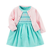 Carter's® 2-pc. Sleeveless Dress & Cardigan Set - Baby Girls newborn-24m