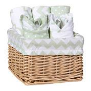 Trend Lab® Sea Foam 7-pc. Feeding Basket Gift Set