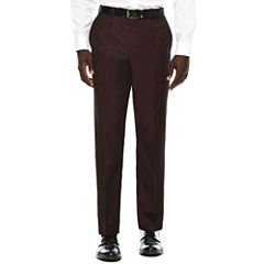 JF J. Ferrar® Enlightened Merlot Flat-Front Suit Pants - Slim Fit