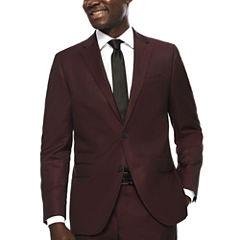 JF J. Ferrar® Enlightened Merlot Suit Jacket - Slim Fit
