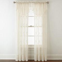 Liz Claiborne® Lisette Ogee Embroidery Sheer Rod-Pocket Window Treatments
