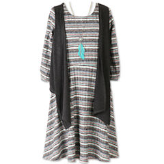 Speechless 3/4 Sleeve Fitted Sleeve Shift Dress - Big Kid Girls Plus