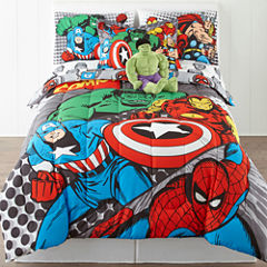 Marvel® Comics Avengers® Twin/Full Reversible Comforter + BONUS Sham Collection