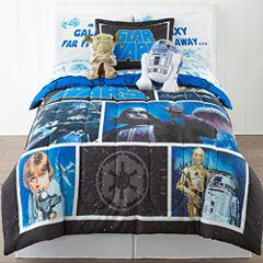 Star Wars Twin/Full Reversible Comforter + BONUS Sham Collection