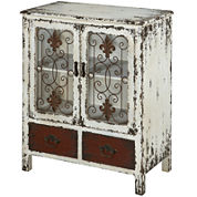 Scrollwork 2-Door Console Table