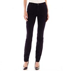 Liz Claiborne® Curvy-Fit Slim-Leg Jeans