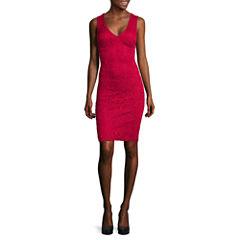 Bisou Bisou® Sleeveless Lace Sheath Dress