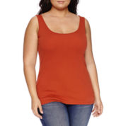 Stylus™ Essential Ribbed Tank Top - Plus