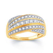 1/2 Ct. T.W. Diamond 10K Yellow Gold Wedding Band