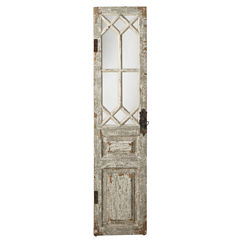 Antiqued Door Wall Mirror