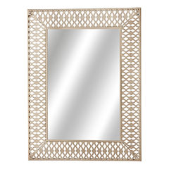 Distressed White Rectangle Wall Mirror
