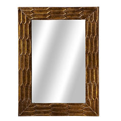 Antique Gold Texture Wall Mirror