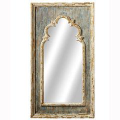 Distressed Blue Arch Wall Mirror