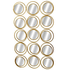 Gold Multi Circle Wall Mirorr