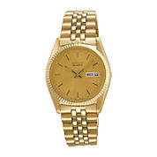 Seiko® Mens Gold-Tone Dress Watch SGF206