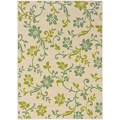 Covington Home Delicate Vine Floral Indoor/OutdoorRectangular Rug