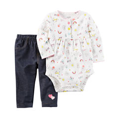 Carter's 2-pc. Bodysuit Set-Baby Girls